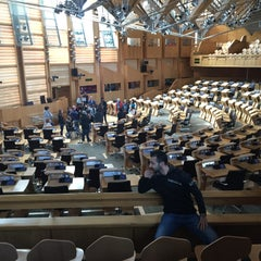 Photo taken at Scottish Parliament by Muhammed Acar on 5/7/2015