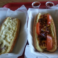 Photo taken at Dog Days Chicago Hotdogs by Jason H. on 10/8/2012
