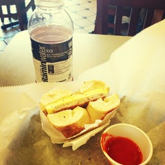 Photo taken at Bruegger's by Andy on 6/10/2013