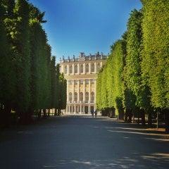 Photo taken at Schloss Schönbrunn by Ivana P. on 6/14/2013