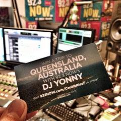 Photo taken at WNOW 92.3 Now FM by DJ YONNY on 3/28/2013