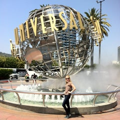Photo taken at Universal Studios Hollywood Globe and Fountain by Elena on 5/2/2013