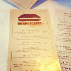 Photo taken at Umami Burger by Yvonne on 12/19/2012