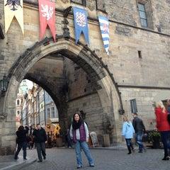 Photo taken at Staroměstská mostecká věž | Old Town Bridge Tower by Carolina on 10/9/2012