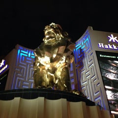 Photo taken at MGM Grand Lion Statue by Fábio P. on 8/22/2013