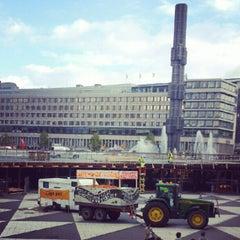 Photo taken at Sergels Torg by Jonas R. on 9/17/2012