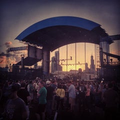 Photo taken at FirstMerit Bank Pavilion at Northerly Island by Abbey H. on 6/28/2013
