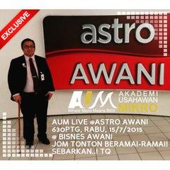 Photo taken at Astro Awani by Abd Azharee A. on 7/15/2015