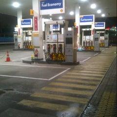 Photo taken at SPBU Shell by Aditya K. on 10/6/2012