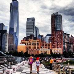 Photo taken at Pier 25 — Hudson River Park by Xander T. on 7/2/2013