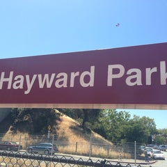Photo taken at Hayward Park Caltrain Station by JohnnyAbsinthe on 5/19/2013