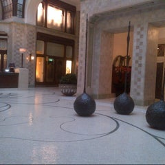 "Photo taken at Four Seasons Hotel Gresham Palace Budapest by ""R G. on 11/21/2012"