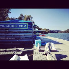 Photo taken at Rowing Dock by Caleb G. on 10/27/2012