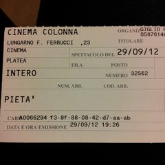 Photo taken at Cinema Colonna by Alessandro S. on 9/29/2012