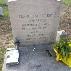 Photo taken at F. Scott Fitzgerald's Grave by David S. on 4/18/2014