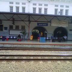 Photo taken at Stasiun Pasar Senen by Indra Hari S. on 4/26/2013