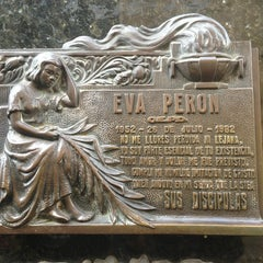 Photo taken at Eva Peron's Grave by Matt M. on 8/11/2013