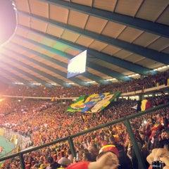 Photo taken at Koning Boudewijnstadion / Stade Roi Baudouin by Arnaud N. on 10/15/2013