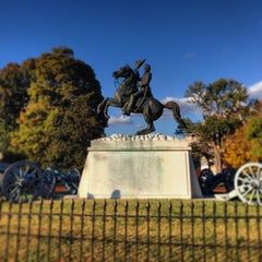 Photo taken at Andrew Jackson Statue by Jason B. on 11/8/2013