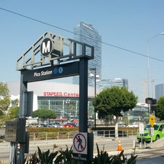 Photo taken at Pico (Chick Hearn) Metro Station by Alwyn L. on 11/3/2012