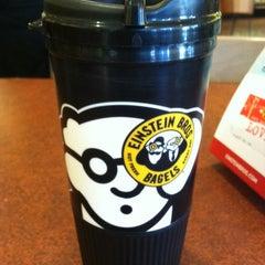 Photo taken at Einstein Bros Bagels by Sean M. on 11/24/2012