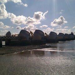 Photo taken at Thames Barrier Park by Brendan on 9/22/2012