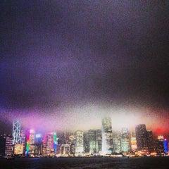 Photo taken at Victoria Harbour 維多利亞港 by Yuki N. on 2/19/2013