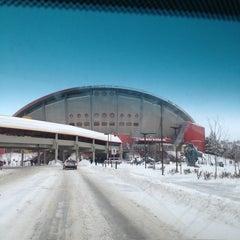 Photo taken at Scotiabank Saddledome by Mark H. on 3/4/2013