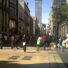 Photo taken at Corredor Peatonal Madero by Mau M. on 1/14/2013