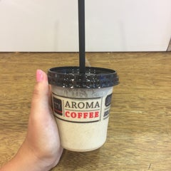 Photo taken at Aroma (ארומה) by Oxana S. on 7/28/2015