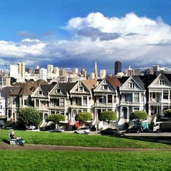 Photo taken at Alamo Square by Marvin S. on 12/12/2012