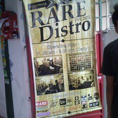 Photo taken at Rare Distro by muhd z. on 12/16/2013