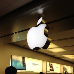 Photo taken at Apple Store, Pacific Centre by Selim on 10/18/2012