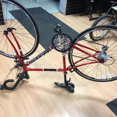 Photo taken at Kyle's Bike Shop by Emily F. on 10/24/2012