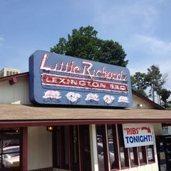 Photo taken at Little Richard's Lexington BBQ by Brian Z. on 5/28/2014