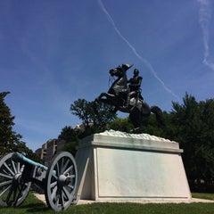 Photo taken at Andrew Jackson Statue by Karina on 6/15/2014