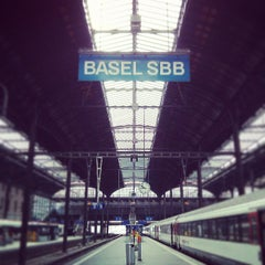 Photo taken at Basel SBB Railway Station (ZDH) by Milos R. on 5/6/2013