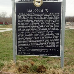Photo taken at Malcolm X  Birthsite by John A. on 12/5/2012