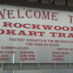 Photo taken at Rockwood Go-Karts by Andy K. on 10/6/2012