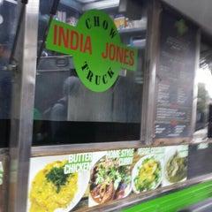 Photo taken at India Jones Chow Truck by Pamela B. on 4/25/2015