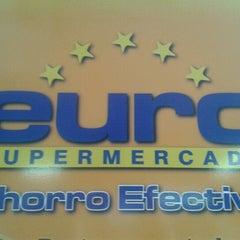 Photo taken at EURO Supermercado La Frontera by Carolina A. on 10/27/2012