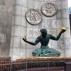 Photo taken at Spirit of Detroit by Simon Taylor A. on 3/28/2013
