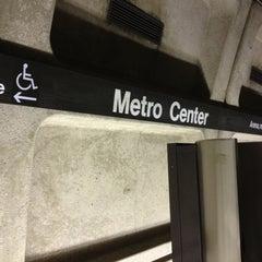 Photo taken at Metro Center Metro Station by Harjit on 4/23/2013