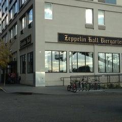 Photo taken at Zeppelin Hall Biergarten by Josh on 10/21/2012