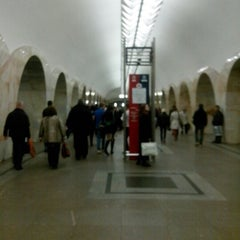 Photo taken at Метро Кузнецкий мост (metro Kuznetsky Most) by Eugenia M. on 10/5/2012
