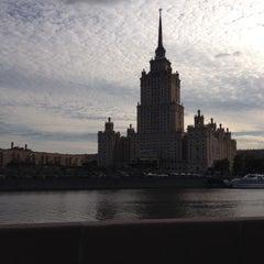 Photo taken at Краснопресненская набережная by Olga S. on 8/24/2014