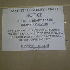 Photo taken at Kenyatta University Post Modern Library by Owaahh on 1/29/2013