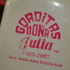 Photo taken at Gorditas Doña Julia by Fernando T. on 10/31/2012
