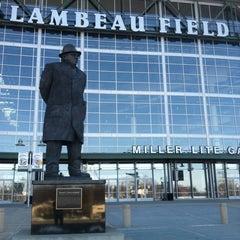 Photo taken at Lambeau Field by Cody S. on 3/14/2013