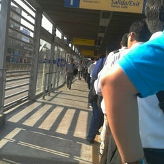 Photo taken at Estación Tomás Valle - Metropolitano by Jhonatan R. on 2/15/2013